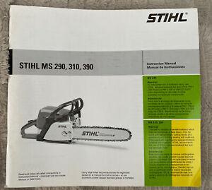 STIHL CHAINSAW MS 290 310 390 INSTRUCTION REPAIR MANUAL