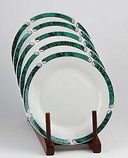 Set of 3 Salad Plates, EXCELLENT Condition! Malachite, Gabbay, Green Marble Rim