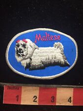 Vintage Dog And Pet Lover MALTESE Patch 77YI