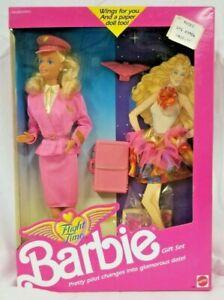 Vintage 1989 Barbie FLIGHT TIME Pilot Gift Set #9584 Doll Paper NRFB NIB NEW