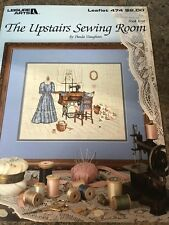 Upstairs Sewing Room Cross Stitch Pattern booklet Leisure Arts #474 1986