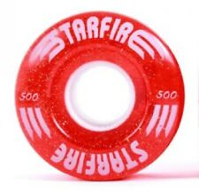 Starfire Red Glitter Roller Derby Quad Speed Skate Wheels 58x32mm - Set of 8