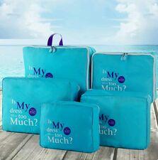 5 Pcs Clothes Underwear Socks Packing Cube Storage Bag Travel Luggage Organizer