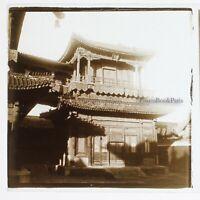 Cina Beijing Tempio Dei Lamas Façade Foto Placca Da Lente Stereo Vintage c1900