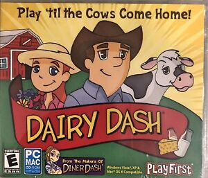Dairy Dash Pc New Win10 8 7 XP Crops Chores Animals Strategy Time Management