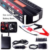 Car Jump Starter 68800mAh Petrol Battery 4 USB 12V600A Power Bank
