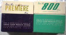 AZROCK Uvalde Rock Asphalt Co. Vinyl Asbestos VINA-LUX Tile Samples 1960-61