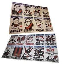 WEG POSTER SET ESSENDON BOMBERS PREMIERSHIP 1897 ~1950 & BROWNLOW 1934 ~ 1996