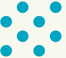 York White Blue Dots Wallpaper KD1867 NEW Multiples Available