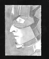 Captain America Pencil Sketch Card