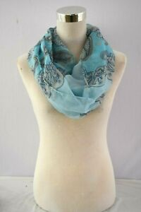 Angle soft,paisley pattern, light weight, infinity, loop circle scarf. dress up