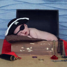 Pirate Hat Baby Crochet Knit Costume Photo Photography Cap Prop Outfit W8N2
