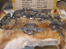 12 Duke #1 1/2 Coil Spring double jaw Traps Raccoon Mink Nutria Muskrat New Sale