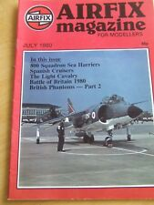 AIRFIX MAGAZINE JUL 1980 800 SQUADRON SEA HARRIERS SPANISH CRUISERS LIGHT CAVALR