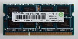 Laptop Ram - Ramaxel 4GB 2RX8 PC3 12800S DDR3 1600MHz