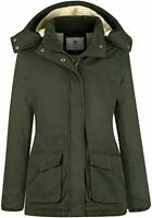 WenVen Women's Winter Thickened Warm Sherpa Lined, Army Green, Size X-Large o8i2