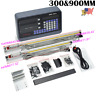 "12"" &36"" Digital Readout 2Axis DRO Display Linear Scale Bridgeport 9X42 Table US"