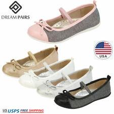 DREAM PAIRS Girls Flat Shoes Kids Princess Shoes Bow Knot  Wedding Dress Shoes