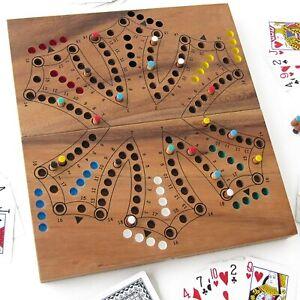 Jeu de TOC - TOCK en bois de 2 à 6 joueurs, jeux de société TAC TIK TAK TIC