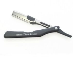 Feather Nape and Body Shaving Razor Grey - Made in Japan