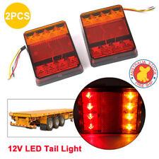 LED TRAILER LIGHTS TRAILER TRUCK CARAVAN 8LED PAIR TAIL LIGHTS SUBMERSIBLE iq