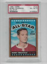 1966 Topps #132 Bobby Rousseau AS, PSA 6 EX-MT, Vintage Canadiens Hockey 1966-67