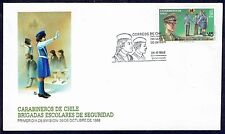 CHILE FDC COVER 1988 # 1325 POLICE
