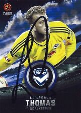 ✺Signed✺ 2016 2017 MELBOURNE VICTORY A-League Card LAWRENCE THOMAS