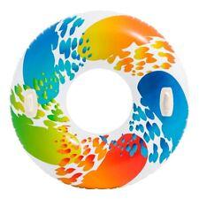 Intex Großer Schwimmring ca.122 cm Schwimmreifen XXL mit 2 Haltegriffe Color