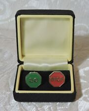 Gemelli vintage Stop & Go, c1970 Made in England Cufflinks Stop & Go