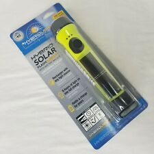 Hybrid Solar Flashlight LED Waterproof Floats Rechargeable Camping Boating