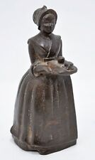 Antique Iron Woman Lady Figurine Original Old Hand Crafted Fine Engraved