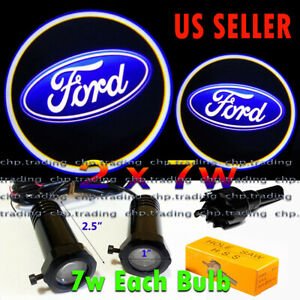 Ford  2x7w Ghost Shadow Laser Projector Logo Cree LED Light Courtesy Door Step