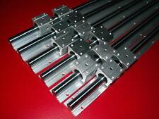 SBR16-300/800/1000mm LINEAR SLIDE GUIDE SHAFT 6 RAIL+12 SBR16UU BEARING BLOCK