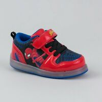 *Marvel Toddler Boys' Spiderman Light Up Easy Closure Sneakers, Red/Black