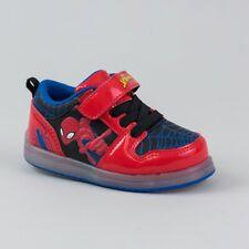 *Marvel Toddler Boys' Spiderman Light Up Easy Closure Sneakers, Red/Black