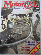 The Classic Motorcycle Magazine January 1984 Wall to wall FN collection Velocett