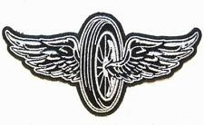 MOTORCYCLE BIKE WHEEL WINGS PATCH P7430 NEW jacket patches BIKER EMBROIDERIED