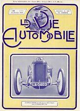 """""""AUSTIN"""" Couverture originale entoilée LA VIE AUTOMOBILE 17/02/1912  26x35cm"""