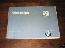 Betriebsanleitung BMW 2500 E3