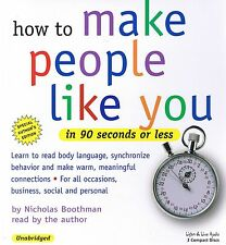 How To Make People Like You In 90 Seconds or Less - 3 CD - NEW - FREE SHIPPING