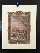 """Art Print :""""ZOOLOGICAL II"""" COPY OF ANTIQUE ETCHING   14 X 18. Heavy Paper."""