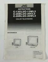 JVC Color TV Instructions Manual C13CL3 C13WL3 C20BL3 C20CL3 C20RL3 C20WL3