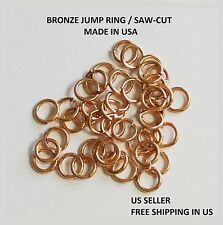 20 GA BRONZE Jump Ring  6 MM O/D Pkg. Of 200 /Made in USA #BJR20-6M -1/2Z