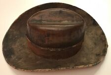 """Antique Edwardian Novelty Slouch Hat Travel Inkwell Marked CIV """"City Imperial..."""