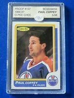 1986-87 O-PEE-CHEE Proof PAUL COFFEY HOCKEY CARD #137 Blank Back ~ ASA 9