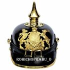 German Leather Pickelhaube Wearable WWI Kingdom Of Bawaria Helmet Without Stand