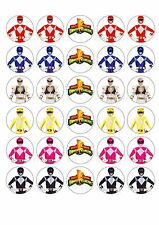 30 Power Rangers Mighty Morphins Edible Paper Cupcake Cup Cake  Topper Image