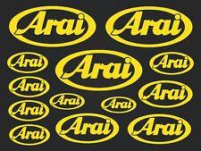 Arai - set of stickers- motosport - 13 kit- yellow  SK-151
