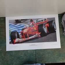 Michael Schumacher Ferrari Formula 1 Hand Signed  3 of 50, 2000, unframed